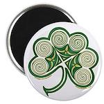 Irish Shamrock Spiral Design Magnet