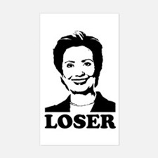 Hillary Clinton - Loser Rectangle Decal