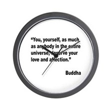 Buddha Love Quote Wall Clock