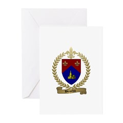 BROCHU Family Crest Greeting Cards (Pk of 10)