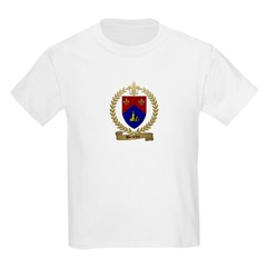 BROCHU Family Crest Kids T-Shirt