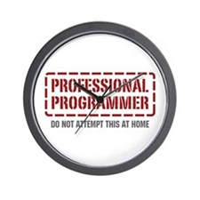 Professional Programmer Wall Clock