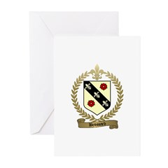 BROSSARD Family Crest Greeting Cards (Pk of 10
