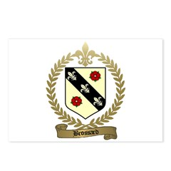 BROSSARD Family Crest Postcards (Package of 8)