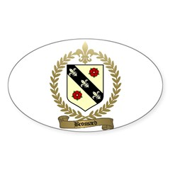 BROSSARD Family Crest Oval Decal