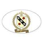BROSSARD Family Crest Oval Sticker
