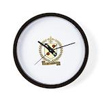 BROSSARD Family Crest Wall Clock