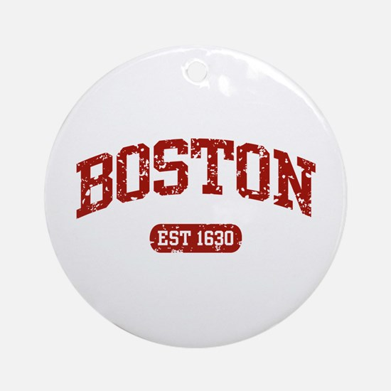 Boston EST 1630 Ornament (Round)