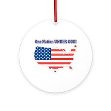 One Nation Under God Ornament (Round)