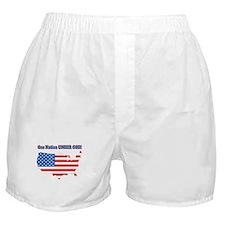 One Nation Under God Boxer Shorts