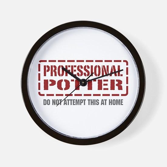 Professional Potter Wall Clock
