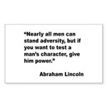 Abraham Lincoln Power Quote Rectangle Sticker