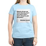 Abraham Lincoln Power Quote Women's Light T-Shirt