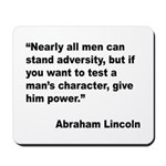 Abraham Lincoln Power Quote Mousepad