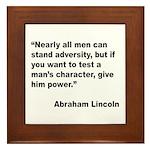 Abraham Lincoln Power Quote Framed Tile