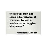 Abraham Lincoln Power Quote Rectangle Magnet (10 p