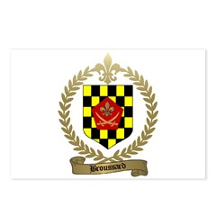 BROUSSARD Family Crest Postcards (Package of 8)