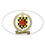 BROUSSARD Family Crest Oval Sticker