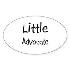 Little Advocate Oval Decal
