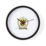 BROUSSARD Family Crest Wall Clock