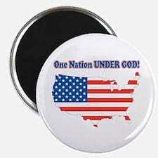 """One Nation Under God 2.25"""" Magnet (100 pack)"""