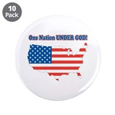 """One Nation Under God 3.5"""" Button (10 pack)"""