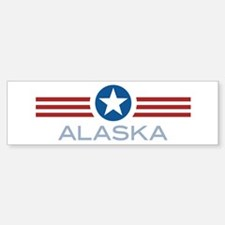 Star Stripes Alaska Bumper Bumper Bumper Sticker