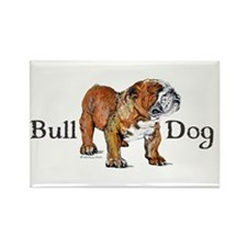 Bulldog by Cherry ONeill Rectangle Magnet