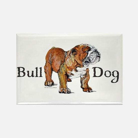 Bulldog by Cherry ONeill Rectangle Magnet