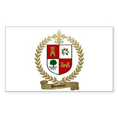 BUSSIERE Family Crest Rectangle Decal