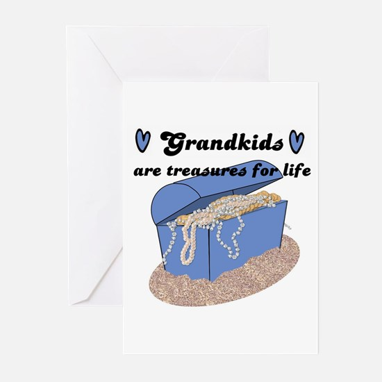 GRANDKIDS ARE TREASURES FOR LIFE! Greeting Cards (