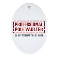 Professional Pole Vaulter Oval Ornament