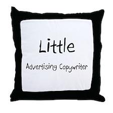 Little Advertising Copywriter Throw Pillow