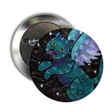 """Lucy - Angel Cat 2.25"""" Button"""