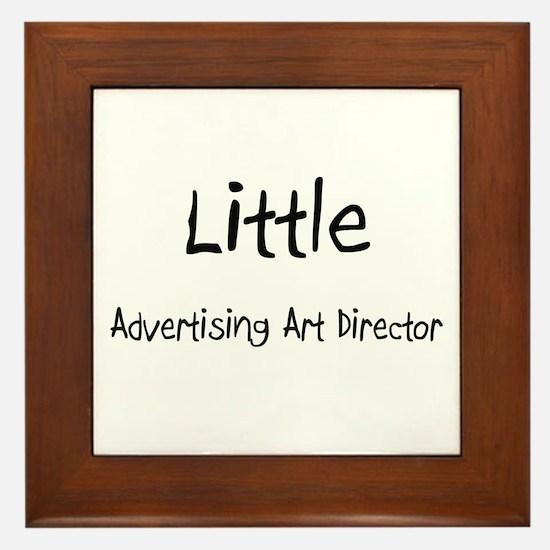 Little Advertising Art Director Framed Tile