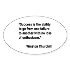Churchill Success Quote Oval Decal