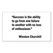 Churchill Success Quote Rectangle Decal