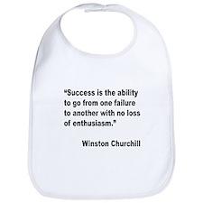 Churchill Success Quote Bib