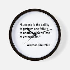 Churchill Success Quote Wall Clock
