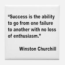 Churchill Success Quote Tile Coaster