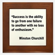 Churchill Success Quote Framed Tile