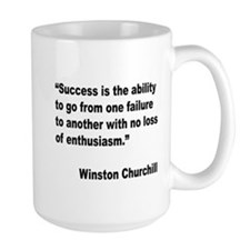 Churchill Success Quote Mug