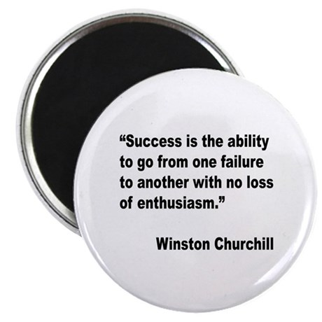 Churchill Success Quote Magnet