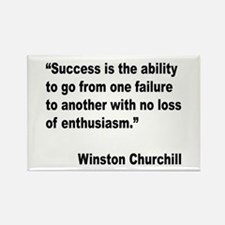 Churchill Success Quote Rectangle Magnet