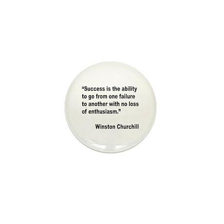 Churchill Success Quote Mini Button (10 pack)