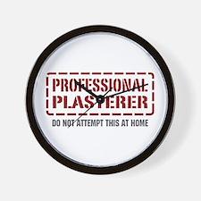 Professional Plasterer Wall Clock