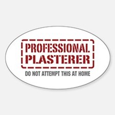 Professional Plasterer Oval Decal