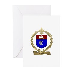 CANTIN Family Crest Greeting Cards (Pk of 10)