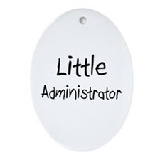 Little Administrator Oval Ornament