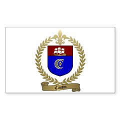 CANTIN Family Crest Rectangle Decal